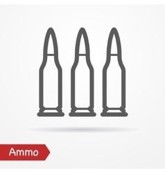 Ammo silhouette icon vector image