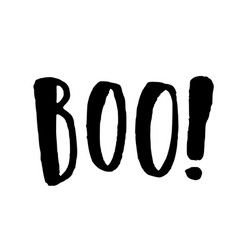 boo hand drawn lettering vector image vector image