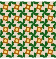Circle and flower rhombus seamless pattern vector image vector image