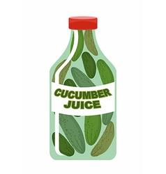 Cucumber juice Juice from fresh vegetables vector image