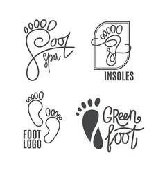foot silhouette health center logo orthopedic vector image