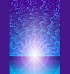 magic abstract background with rays of light vector image