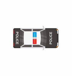 police car with top view vector image