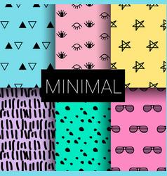 set of minimal seamless patterns vector image