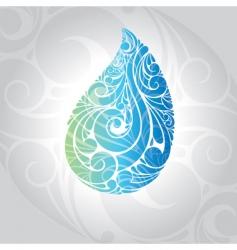 water drop vector illustration vector image vector image