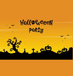 Background for halloween party silhouette style vector
