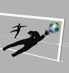 business man soccer concept vector image vector image