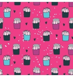 Colorful hand drawn Seamless background pattern vector image vector image