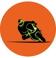 motorcycle race icon vector image