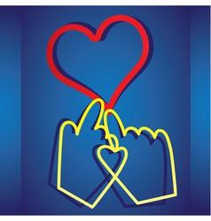 online dating vector image vector image