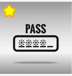password black icon button logo symbol vector image