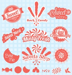 Retro Candy Labels and Icons vector image