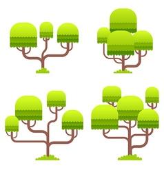 Stylized tree on white background vector image