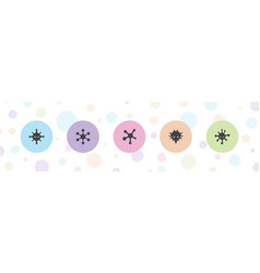 5 bacterium icons vector