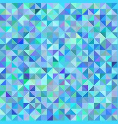 abstract background of triangles blue green scale vector image