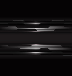Abstract silver black cyber geometric line on dark vector