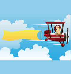 airplane carrying banner vector image