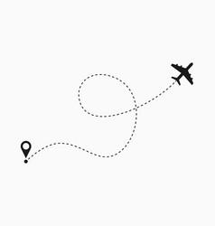 Airplane path vector