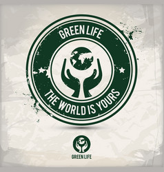 alternative green life stamp vector image