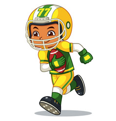 American football player boy running with holding vector