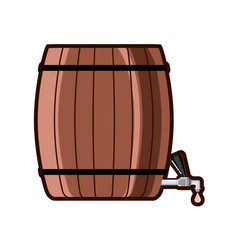 beer barrel with tap vector image
