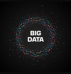 big data visualization circular cluster of vector image