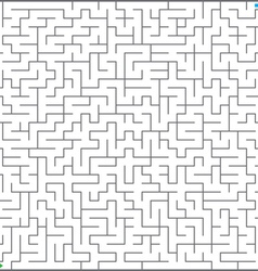big maze vector image