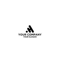 Black ah logo design vector