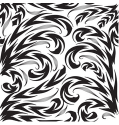 black and white vintage floral seamless pattern vector image