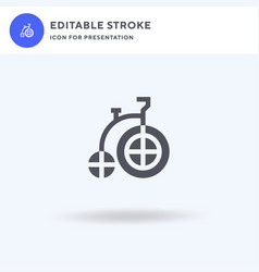 bycicle icon filled flat sign solid vector image