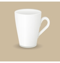 ceramic latte coffee cup vector image