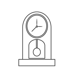 clock time watch pendulum outline vector image