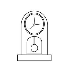 Clock time watch pendulum outline vector