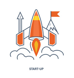 Concept of start up business vector
