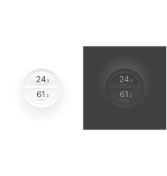 Control knob used for regulating ui and ux kit vector