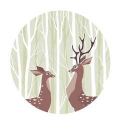 cute deer vector image