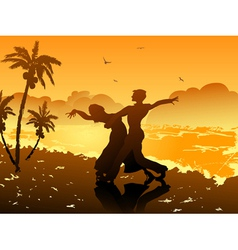 Dancing on the beach vector