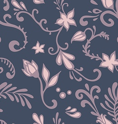dark floral pattern vector image