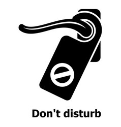 Do not disturb icon simple black style vector