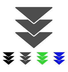 Downloads direction flat icon vector