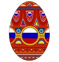 Egg Russia vector
