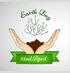 elements of earth day background vector image