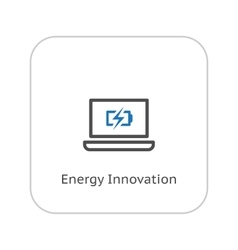 Energy Innovation Icon Business Concept Flat vector image