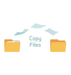 files copy in folders - full and empty vector image
