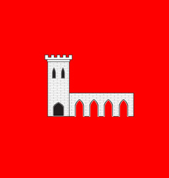 Flag of pontarlier in doubs of franche-comte is a vector