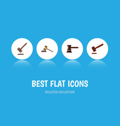 Flat icon court set of government building court vector