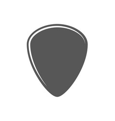flat plectrum isolated on a white background vector image
