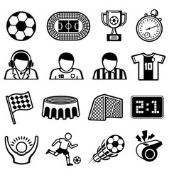 Football sports icons soccer team symbols vector