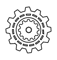 gear machine style isolated icon design vector image
