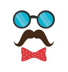 Gentleman face hipster style vector